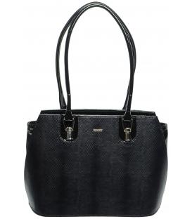 Čierna kabelka s hadím motívom S530 - Grosso