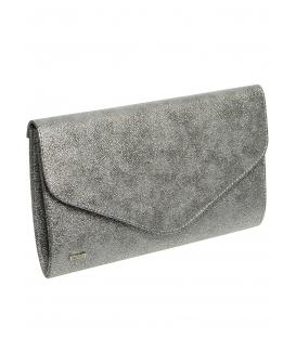Tmavě stříbrná brokátová společenská kabelka SP102 - Grosso