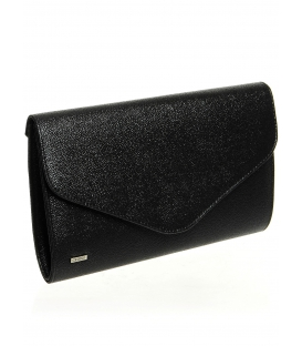 Čierna brokátová spoločenská kabelka SP102 - Grosso