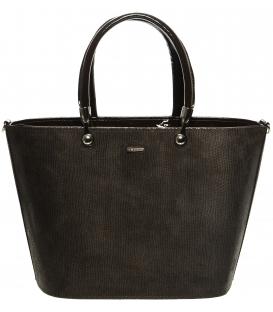 Hnědá kabelka s jemným vzorem S630 - Grosso