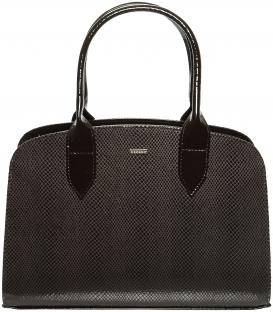 Hnedá kabelka s hadím vzorom S53 - Grosso