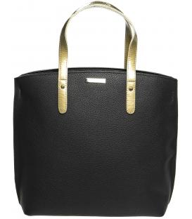 Černo - zlatá kabelka v anglickém stylu S612 - Grosso