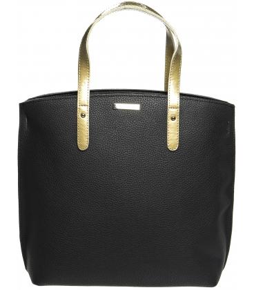 Čierno - zlatá kabelka v anglickom štýle S612 - Grosso
