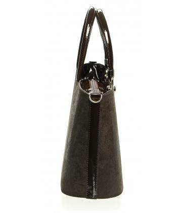Hnedá kabelka s jemným vzorom S630 - Grosso