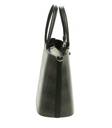 Zelená kabelka s hadím vzorom S630 - Grosso