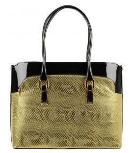 Zlato čierna elegantná kabelka S557   Grosso