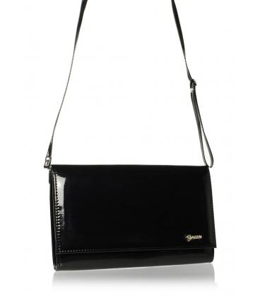 Čierna lakovaná spoločenská kabelka SP100   Grosso
