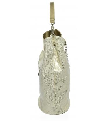 Zlatá veľká kabelka s retiazkou S633 - Grosso