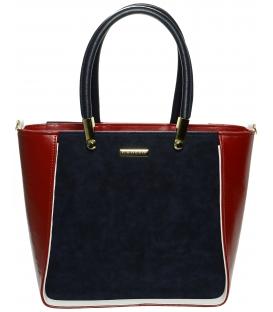 Červeno-modrá elegantná kabelka S643 - Grosso