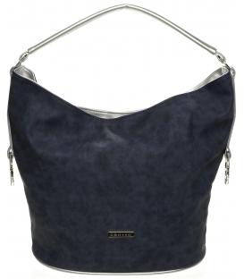 Modro-strieborná široká kabelka S650 - Grosso
