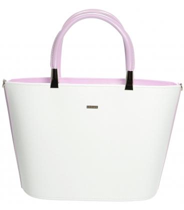 Bielo-levanduľová elegantná kabelka S630 - Grosso