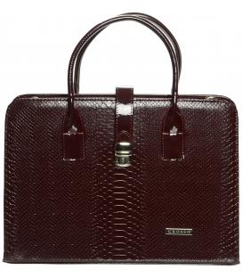 Elegáns Bordó Női  laptop táskát S563 - Grosso