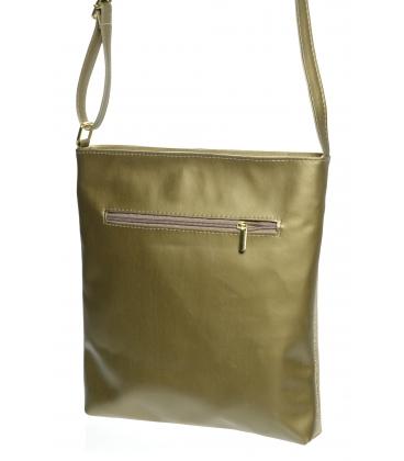 Zlatá crossbody kabelka so zdobením M198 - Grosso