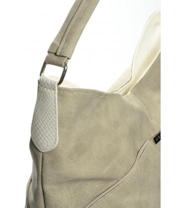 Bledohnedá kabelka cez rameno S655 - Grosso