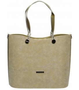 Zlato-béžová elegantní kabelka S638 - Grosso