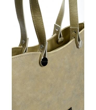 Zlato-béžová elegantná kabelka S638 - Grosso