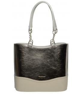 Béžovo-šedá elegantná kabelka S656 - Grosso