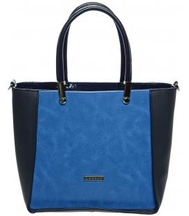 Modrá elegantní kabelka -S643 - Grosso