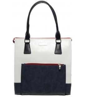 Elegantná vysoká kabelka v trikolóre S225 - Grosso