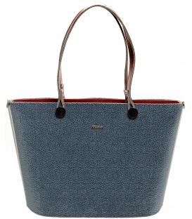 Modro-červená vystužená kabelka S631 - Grosso