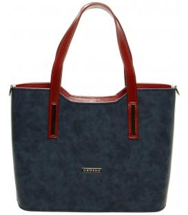 Elegantná vystužená kabelka v trikolóre S609 - Grosso