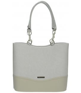 Krémovo -béžová elegantná kabelka S656 - Grosso
