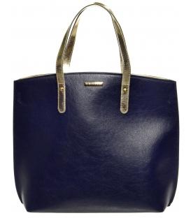Modro-zlatá lukratívna kabelka S612 - Grosso