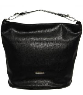 Černá mechová kabelka přes rameno S670 - Grosso