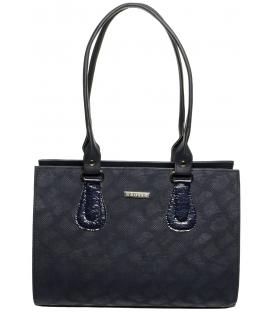 Čipkovaná tmavá kabelka S61 - Grosso