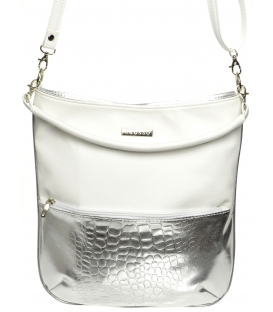 Ezüst-fehér crossbody táska M204 - Grosso