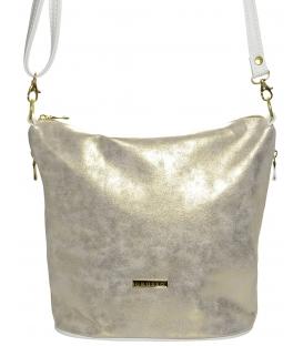 Zlato-biela crossbody kabelka M229 - Grosso