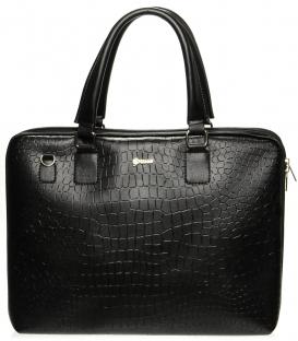Praktická černá úzká kabelka S562 Grosso