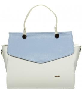 Bílo-modrá eletantní kabelka S661 - Grosso