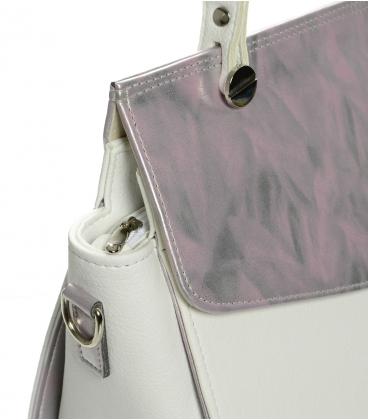 Bielo-ružová elegantná kabelka S661 - Grosso