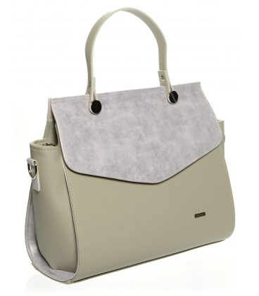 Sivo-ružová elegantná kabelka S661 - Grosso
