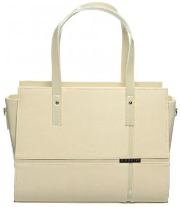 Béžová elegantná kabelka  - S673 Grosso