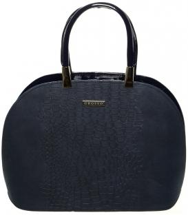 Šedá oblá kabelka s vystužením S606 - Grosso