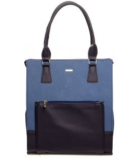 Elegantná vysoká kabelka v trikolóre S659 - Grosso
