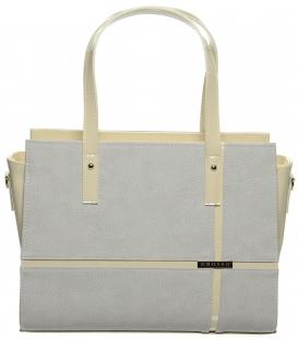 Béžová elegantní kabelka S673 - Grosso