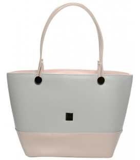 Sivo ružová kabelka cez rameno S642 - Grosso