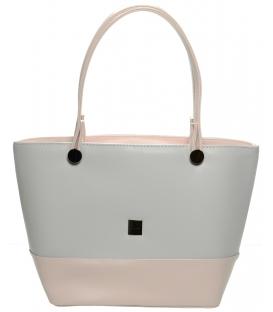 Stříbrno-černá menší kabelka S642 - Grosso