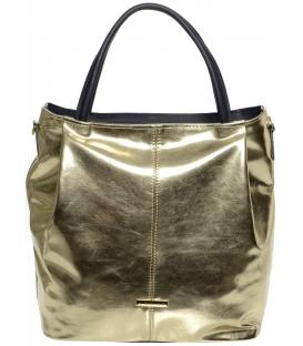 Zlato-modrá mechová kabelka S400 - Grosso