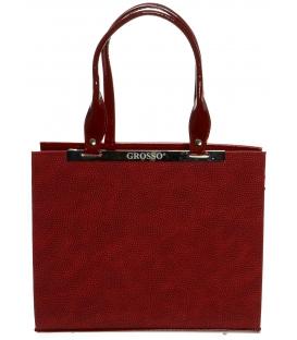 Červená kabelka obdĺžnikového tvaru S669 - Grosso