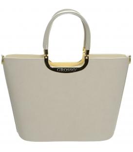 Béžová elegantní kabelka do ruky S7 - Grosso