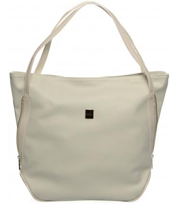Béžová mechová kabelka S674 - Grosso