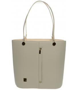 Béžová vysoká kabelka s výstuhou S672 - Grosso