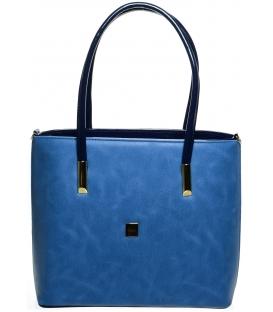 Modrá elegantná kabelka S645 - Grosso