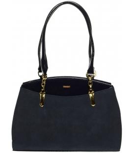 Modrá kabelka s dlhými rúčkami S498 - Grosso