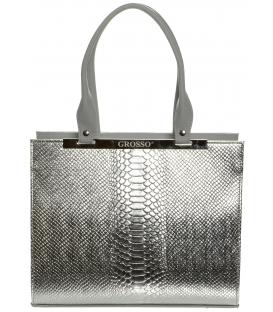 Stříbrná kabelka s hadím vzorem S669 - Grosso
