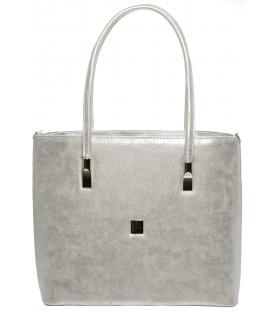 Stříbrná kabelka přes rameno S645 - Grosso